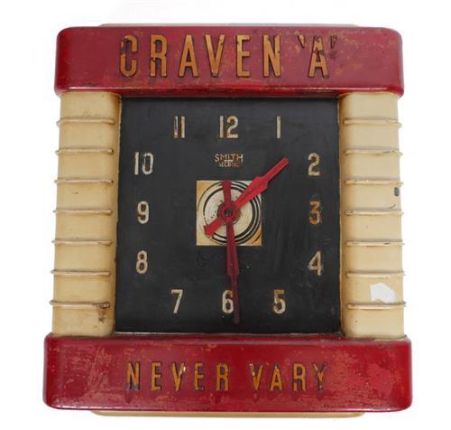 Craven ''A'' bakelite clock.