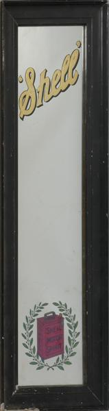Early 20th century Shell Motor Spirit advertising mirror.