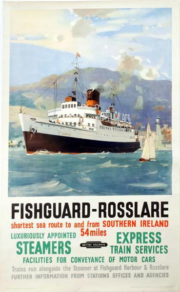 Fishguard - Rosslare Steamer Poster.
