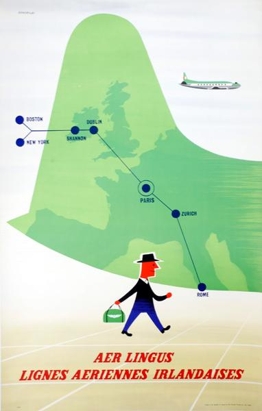 1950s Aer Lingus poster