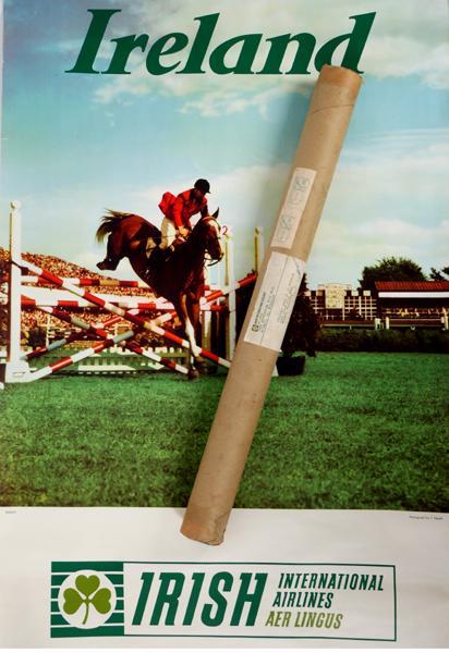 1964 Aer Lingus, Dublin Horse Show poster.