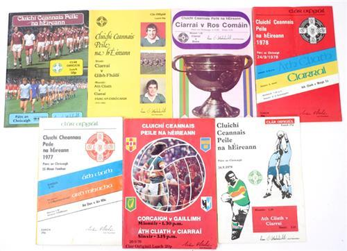 1976-1983 Seven All Ireland Football programmes. (7)