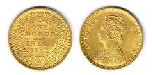 India. Victoria. Gold mohur, 1862.