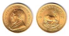 South Africa. Gold Krugerrand, 1976.