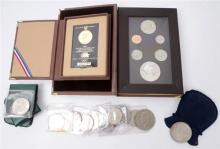 USA. Small accumulation including silver dollars and half dollars.