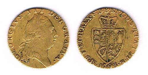 George III gold guinea, 1793.