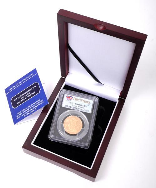 Elizabeth II gold double sovereign, proof, 2013