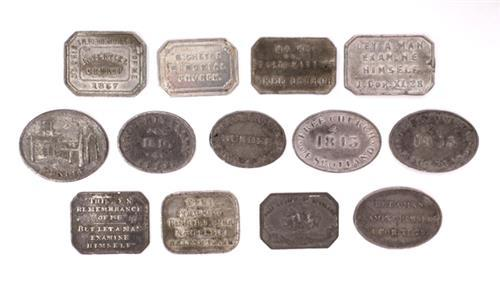 Collection of Communion Tokens, mainly Scottish.