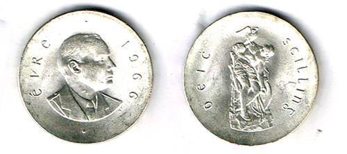 1966 Rising Anniversary silver ten shillings, mint (40)
