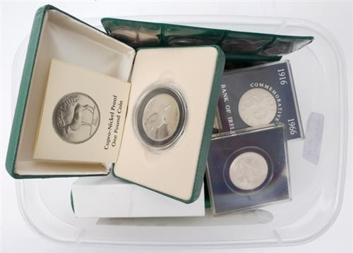 1966 Rising Anniversary silver ten shillings and some earlier coins. (50)