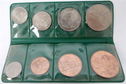 1966 mint sets farthing to halfcrown, also some ten shillings.