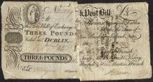 Ffrench''s Bank One Pound Five Shillings and Three Pounds