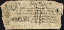Tuam Bank One Pound, 25 June 1812