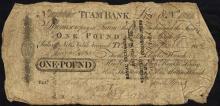 Tuam Bank One Pound, 1812
