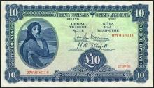 Currency Commission ''Lady Lavery'' Ten Pounds 27-10-38