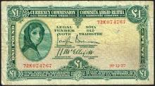 Currency Commission ''Lady Lavery'' One Pound collection 1937-39 (5)