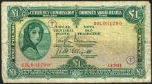 Currency Commission ''Lady Lavery'' War Code One Pound collection 1941-43