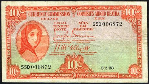 Currency Commission ''Lady Lavery'' Ten Shillings collection 1938-68 (9)