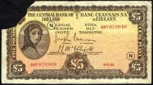 Central Bank ''Lady Lavery'' Five Pounds and One Pound collection.