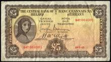 Central Bank ''Lady Lavery'' Five Pounds 1945- 49 (10)