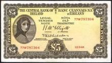 Central Bank ''Lady Lavery'' Five Pounds, 1960-1964.