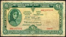 Central Bank ''Lady Lavery'' One Pound and Ten Shillings collection 1952-69 (12)