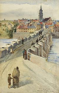 Christina Paterson Ross RSW (Scottish, 1843-1906) BERWICK ON TWEED, 1893