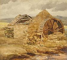 Mary Georgina Barton SWA (1861-1949) WATERMILL