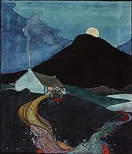 Mícheál MacLíammóir (1899-1978) WEST OF IRELAND FAIRY SCENE