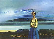 Daniel O'Neill (1920-1974) FIGURE IN A LANDSCAPE