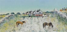 Maurice MacGonigal PPRHA HRA HRSA (1900-1979) SUMMER MORNING, KILRANE, WEXFORD, 1977