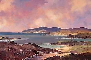 George Gillespie RUA (1924-1995) ON KERRY COAST signed lower left; titled on reverse oil on canvas 51 by 76cm., 20 by 30in. IR