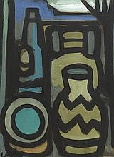 Markey Robinson (1918-1999) STILL LIFE WITH BOTTLES