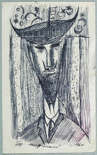 Tony O'Malley HRHA (1913-2003) MAGICIAN, 1960