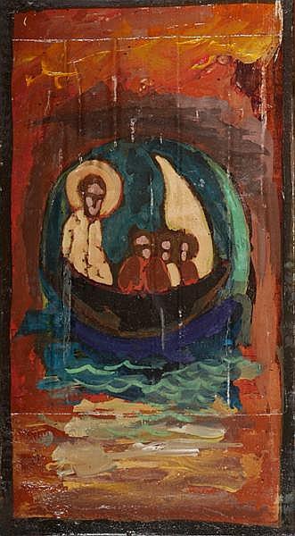 Markey Robinson (1918-1999) ICON, JESUS CALMS THE STORM