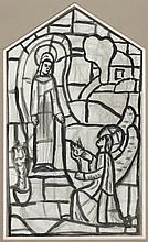 Evie Hone HRHA (1894-1955) THE ANNUNCIATION, [STUDY FOR STAINED GLASS WINDOW AT CHURCH OF THE IMMACULATE CONCEPTION, KINGSCOURT, COU...
