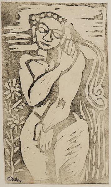 Gerard Dillon (1916-1971) FEMALE FIGURE