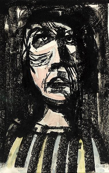 Colin Middleton MBE RHA (1910-1983) HEAD II, 1959