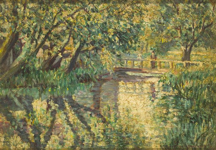Frederick O'Neill Gallagher (d. circa 1937) BRIDGE NEAR MORET, FRANCE, 1903