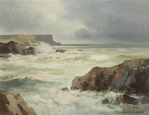 Maurice Canning Wilks RUA ARHA (1910-1984) EASTERLY WINDS, BALLINTOY, COUNTY ANTRIM