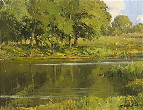 Maurice Canning Wilks RUA ARHA (1910-1984) REFLECTIONS, RIVER LAGAN, COUNTY DOWN