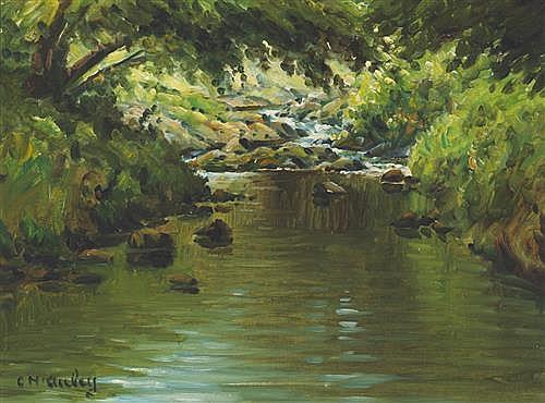 Charles J. McAuley (1910-1999) RIVER SCENE
