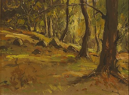 Maurice Canning Wilks RUA ARHA (1910-1984) WOODLAND SCENE