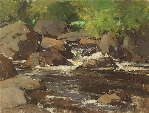 Maurice Canning Wilks RUA ARHA (1910-1984) RIVER SCENE
