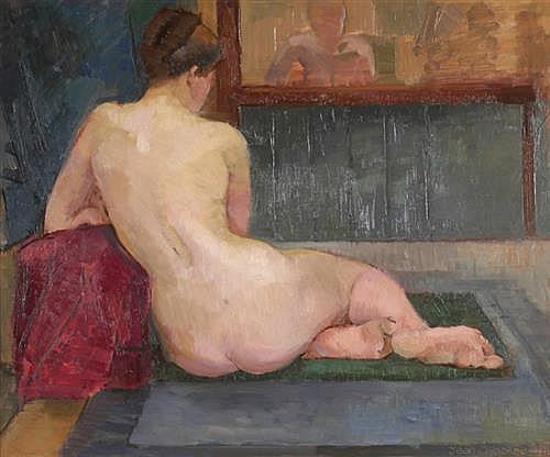 Jean Osborne (1926-1965) FIGURE STUDY, 1951