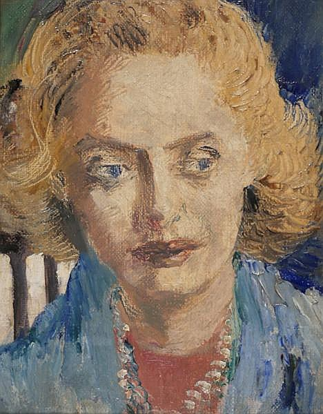 Ronald Ossory Dunlop RA RBA NEAC (1894-1973) PORTRAIT OF A WOMAN