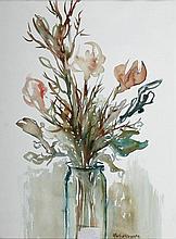 Gladys Maccabe HRUA ROI FRSA (b.1918) FLOWERS IN A GLASS JAR
