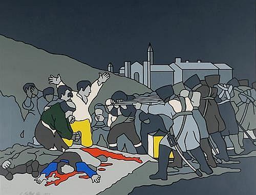 Robert Ballagh (b.1943) THE THIRD OF MAY, AFTER GOYA, 1973
