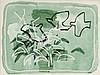 Desmond Carrick RHA (1928-2012) BIRDS AMONG LEAVES
