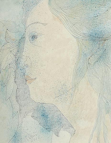 Piet Sluis (1929-2008) PORTRAIT OF A GIRL, 2001